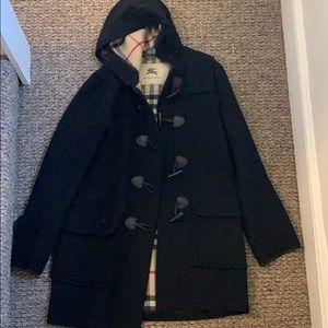 Burberry Wool Toggle Coat in Black